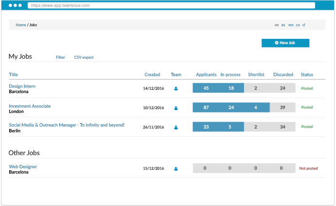 Manage all selection processes in one place